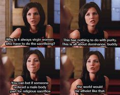 She confronts misogynistic religious practices.   28 Reasons Cordelia Chase Should Be Your New Role Model