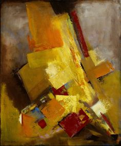 Critical Action - 20x24 Non-objective Abstract Painting by Dona Love - NUMA Gallery