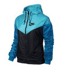 30eb297e7d Nike WindRunner Women s Jacket Windbreaker Hoodie Blue Black 545909-020 in  Clothing