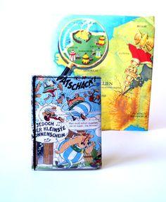 Portemonnaie ASTERIX & OBELIX Comic upcycling Unikat! Geldbörse, Brieftasche, Geldbeutel Asterix Comic recycling wallet handmade in Berlin von PauwPauw auf Etsy