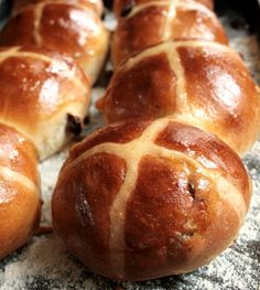 Hot Cross Buns - http://www.smithsonianmag.com/smart-news/five-great-myths-about-hot-cross-buns-traditional-pre-easter-pastry-180951130/?no-ist