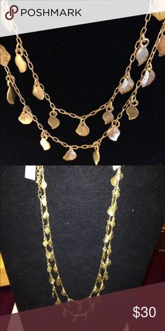 Lia Sophia Whisper necklace Gold toned necklace with leaves.   Can be worn doubled as seen in photo. Lia Sophia Jewelry Necklaces