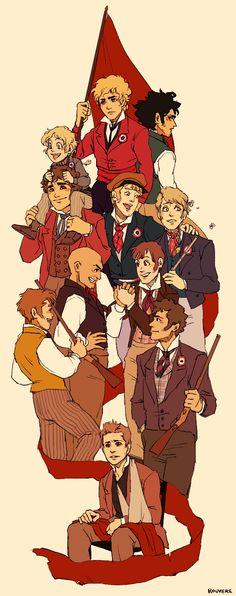 Les Amis for Barricade Day! - Les Misérables art by Rouvere