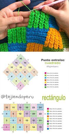 Interlaced Puff Crochet Stitch Free Pattern Tutorial