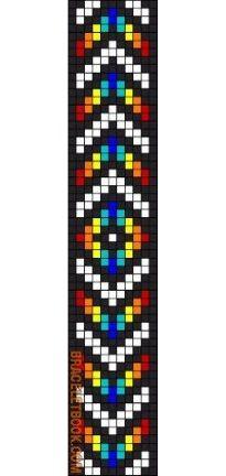 Alpha friendship bracelet pattern added by arrow chevron diamond rainbow. Loom Bracelet Patterns, Seed Bead Patterns, Bead Loom Bracelets, Beading Patterns, Cross Stitch Patterns, Beaded Hat Bands, Motifs Perler, Native American Beadwork, Beaded Crafts
