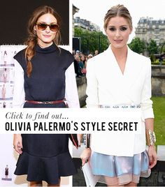 Want to know why Olivia Palermo always looks to put together and slim? Click the photo to find out! #style