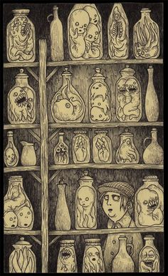 John Kenn drew this, and many others like it, on a post-it note.