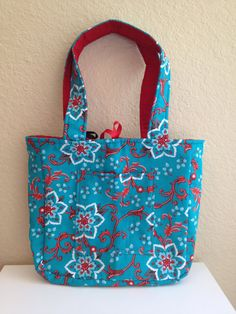 Bright and Bold Floral Reversible Tote on Etsy, $25.00