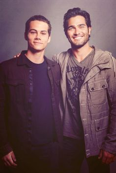 Dylan O'Brien and Tyler Hoechlin, my two absolute favorites on Teen Wolf. #StilesStilinski #DerekHale