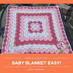 Baby blanket easy for beginners step by step slowly