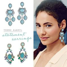 Spring trend: statement earrings! www.candibychristine.com