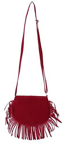"""New Trending Cross Body Bags: Shoulder Bags Nodykka Fringe Cross Body Bag Velvet Clutches Women Handbags Purse Tote (RED). Shoulder Bags Nodykka Fringe Cross Body Bag Velvet Clutches Women Handbags Purse Tote (RED)  Special Offer: $7.97  444 Reviews """"Set your style apart from the pack with the Nodykka shoulder bag purse. This nice looking and cool single strap crossbody hobo bag is made of flannel..."""