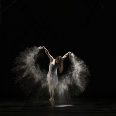 Gorgeous images - ballet and flour combined to create magic!