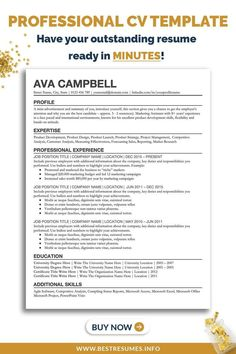 Check out this professional student CV template to transform your outdated CV quickly. This student curriculum vitae will help you with your job search and applying for jobs. Stand out with a CV that has a clean student CV design and CV layout. This CV can be downloaded instantly and used as a business CV, manager CV and student CV. A professional cover letter template comes with the resume package. Cv Template Student, Professional Cover Letter Template, Resume Cover Letter Template, Simple Resume Template, Resume Templates, Curriculum Vitae Examples, Curriculum Vitae Template, Google Docs, Cv Cover Letter Example
