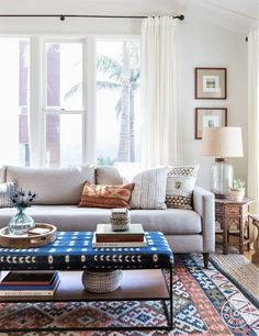 Coffee Table: Clad Home Side Table: Wisteria Sofa: Clad Home Kilim Area Rug: Clad Home Jute Area Rug: Pottery Barn Bedroom Ideas and Home Design Home Decor Room Design Home Decor Inspiration, Room Design, Interior Design, House Interior, Clad Home, Home, Interior, Living Decor, Living Room Designs