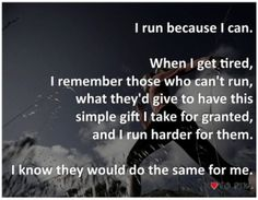 My thoughts on my run tonight. I cry as I read this ❤️ thinking of a day when I won't have my running partner any more.
