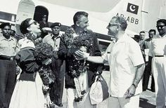 """Famous Hollywood names of the 50's """"Ava Gardner and Stewart Granger """" landed at lahore Airport in 1954. They came for the filming of the major portion of the film """"Bhowani Junction."""" It came as a huge surprise for me as these days if any film whose scenes are to be shot in any city of this country."""