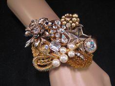 A Statement Bridal Cuff - the perfect Wedding Bracelet - Mermaid's Treasure by JenniferJonesJewelry, $135.00https://www.etsy.com/listing/158390214/statement-necklace-wedding-necklace?ref=shop_home_active_8