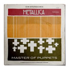 Metallica - Master of Puppets - Classic Metal Albums Redesigned by Rafa Melandi