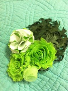Gorgeous Hair Flair~ perfect newborn photo prop, or to wear on St. Patrick's day or even Christmas!
