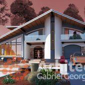 Casa cu etaj 61 | Proiecte de case personalizate | Arhitect Gabriel Georgescu & Echipa Architecture Design, Outdoor Decor, House, Home Decor, 2nd Floor, Houses, Architecture Layout, Decoration Home, Home