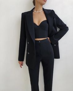 Glamouröse Outfits, Teen Fashion Outfits, Cute Casual Outfits, Stylish Outfits, Elegantes Business Outfit, Elegantes Outfit, Suit Fashion, Look Fashion, Suits For Women