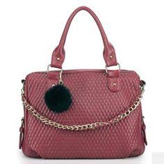 93b96579fe66 Zipper Chains Embellished Plaid Print Wine Red PU Satchel Bag. Buy Bags  OnlineEco ...