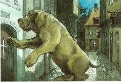 From H.C.Andersen fairytales - Illustration Svend Otto S. - The Tinderbox