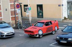 Benedetto Bufalino transforms a car into a cardboard Ferrari