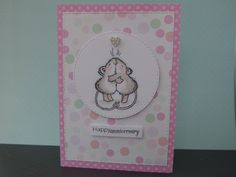 Anniversay card made using Penny Black Share a Hug stamp set.