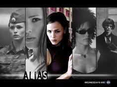 Alias - The many faces of Agent Sydney Bristow (Jennifer Garner) Lena Olin, Michael Vartan, Gina Torres, Rachel Nichols, Jennifer Garner, Jen Garner, Bradley Cooper, Sci Fi Series, Film Noir