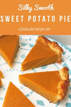 Silky Smooth Sweet Potato Pie – bakes brooklyn With Thanksgiving just six days away, I hope you're all narrowing down your menus. Don't worry, there's still time. If you've forgotten to order a turkey, don't fret–my family hasn't eaten a … Homemade Sweet Potato Pie, Vegan Sweet Potato Pie, Sweet Potato Recipes, Southern Sweet Potato Pie, Sweet Potatoe Pie, Sweet Potato Cobbler, Homemade Peach Cobbler, Sweet Potato Cookies, Sweet Potato Dessert
