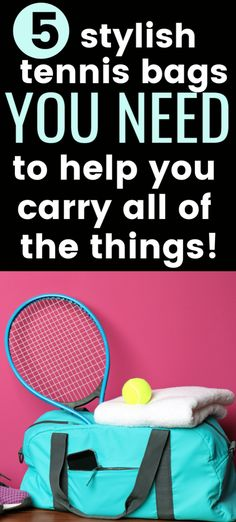 There are so many options when it comes to finding the perfect tennis bag. These stylish and cute tennis bags work well because they can hold everything you need and help you stay organized for tennis matches and practices. Tennis Bags, Tennis Gear, Sport Tennis, Tennis Clothes, Tennis Tournaments, Tennis Players, Perfect Tennis, How To Play Tennis