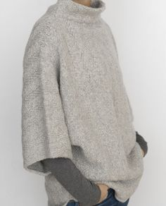 Chaleur from Julie Hoover :: comfy knit pullover with herringbone pattern, three-quarter sleeves