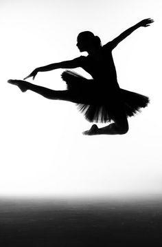 ballerina silhouette pinned with Bazaart