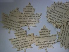 hand punched leaf fall wedding decorations