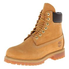 8bd7ecaea711 Timberland Men s Classic Premium Waterproof Wheat Nubuck Leather Lace Up  Boots