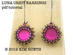 Beading Tutorial for Luna Orbit earrings with by KnotJustBeads, $8.00