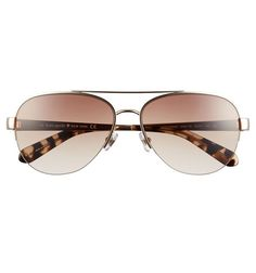 Kate Spade New York 57mm Aviator Sunglasses