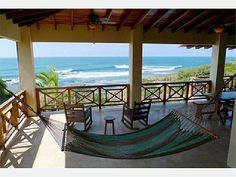 Upstairs deck hammack perfect place after a surf session Costa Rica Travel, Outdoor Furniture, Outdoor Decor, Perfect Place, Hammock, Ideal Home, Pergola, Surfing, Villa
