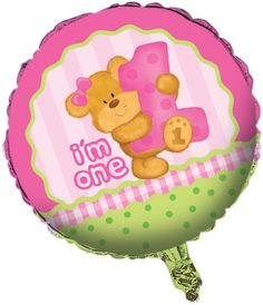 Creative Converting Bears First Birthday Two Sided Mylar Foil Round Balloon Pink ** You can get additional details at the image link. (This is an affiliate link)
