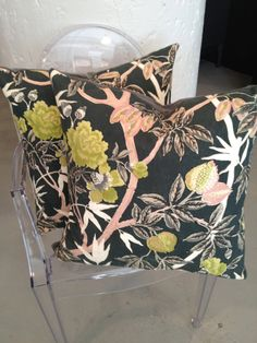 NEED / Vintage Fabric Throw Pillow / $175