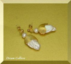 Ohrhänger - interessante Perlenohrhänger - ein Designerstück von Dream-Colliers bei DaWanda