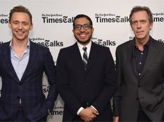 Tom Hiddleston and Hugh Laurie attend TimesTalks Presents: 'The Night Manager' on April 11, 2016 in New York City. Full size image: http://ww2.sinaimg.cn/large/6e14d388gw1f2tmeb97n9j22yf1ttb29.jpg Source: Torrilla, Weibo http://www.weibo.com/1846858632/DqAiUa4HD?from=page_1005051846858632_profile&wvr=6&mod=weibotime&type=comment#_rnd1460454326128