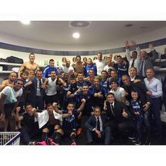Celebration in dressing room. #DerbyMilano #InterMilan