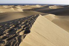 Las dunas de Maspalomas, en Gran Canaria