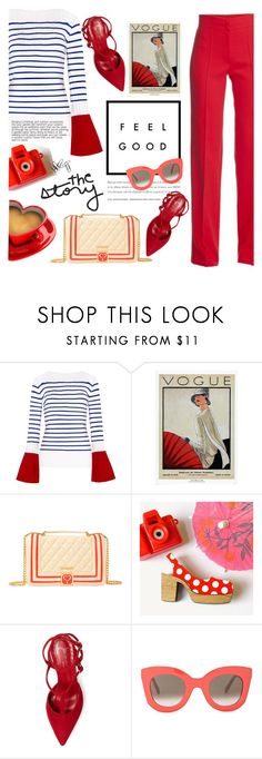 """""""red,blue look"""" by licethfashion ❤ liked on Polyvore featuring WALL, Love Moschino, Jean-Michel Cazabat, CÉLINE, polyvoreeditorial and licethfashion"""