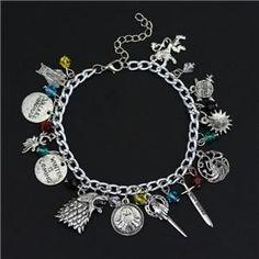 Game of Thrones GOT Jon Daenerys Cersei White Walker Vintage Charmed Pin Brooch