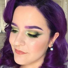 """Look at this stunning starlet rocking """"DPS"""" (purple from the RPG Collection) as eyebrow color! Absolutely love it.  Preorder this collection at the link in profile before preorders close. ✨ • • • • #EspionageCosmetics #NerdMakeup #lotd #motd #eotd #makeup #eyebrows #eyebrowcolor #CrueltyFree #CrueltyFreeMakeup #CrueltyFreeBeauty #preorder"""