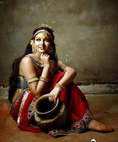 Check Out these 50 Most Beautiful Indian Women Paintings of All TimesCheck Out these 50 Most Beautiful Indian Women Painti. Indian Women Painting, Indian Art Paintings, Abstract Paintings, Dance Hip Hop, Dance Aesthetic, Most Beautiful, Beautiful Women, Mädchen In Bikinis, Woman Painting